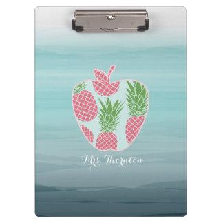 Pranchetas O impressão Apple do abacaxi de Ombre personalizou