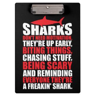 Pranchetas Palavras inspiradores - seja um tubarão