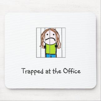 """Pranky """"prendido no escritório"""" Mousepad"""