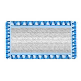 Prata com modelo azul da beira da faísca etiqueta de frete