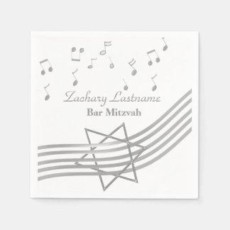 Prata de Mitzvah do bar da música Guardanapos De Papel