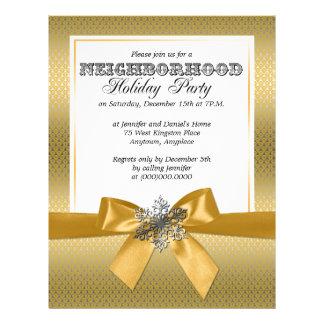 Prata e convite amarelo dourado da festa natalícia papel timbrado