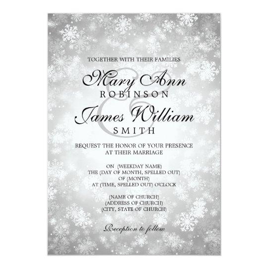 Prata elegante da faísca do país das maravilhas do convite 12.7 x 17.78cm