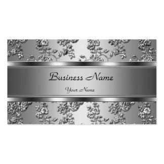 Prata elegante elegante olhar floral gravado