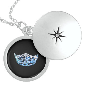 Prata esterlina da colar do Locket da coroa da