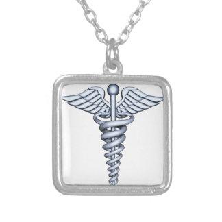 Prata médica do símbolo pingentes