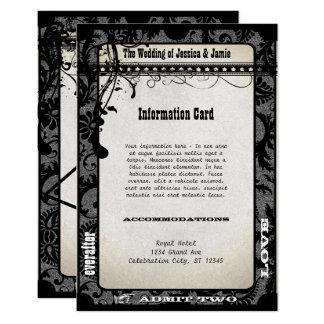 Prata metálica do cartão de informação do