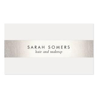 Cartão de visita prata, cartões de visita prata