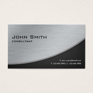 Prata moderna elegante profissional do reparo do cartão de visitas