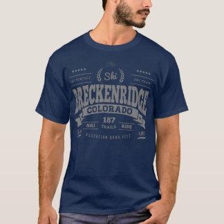 Prata perfeita do vintage de Breckenridge Camiseta