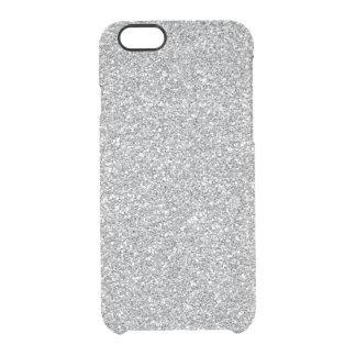 Prata rara do caso do iPhone 6 do brilho do falso Capa Para iPhone 6/6S Clear
