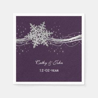 prata roxa guardanapo wedding personalizado guardanapos de papel