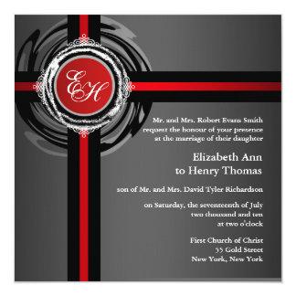 Prata vermelha do convite da cerimónia de