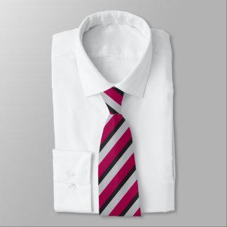 Prata vermelha e listra regimental preta gravata