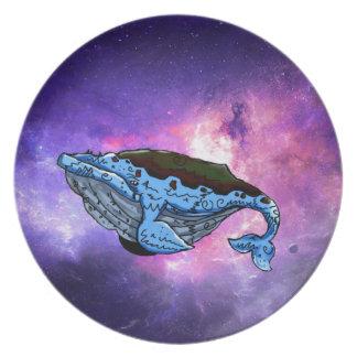 Prato baleia do espaço