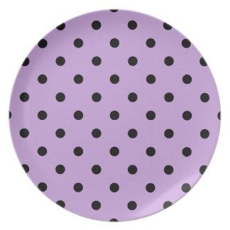 Prato Bolinhas pequenas - preto em glicínias