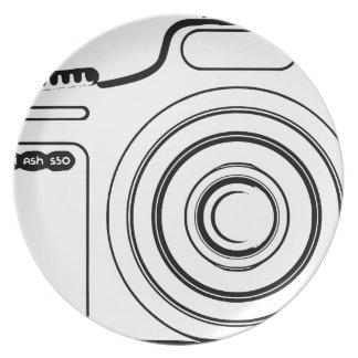 Prato Câmera preto e branco