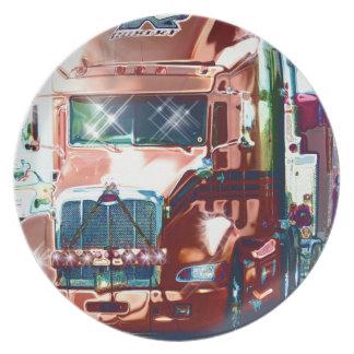 Prato Caminhão pesado vermelho grande para camionistas &
