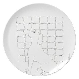 Prato Cão original que tira o ano chinês do cão placa de
