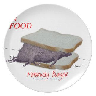 Prato Comida do homem de Tony Fernandes - hamburguer da