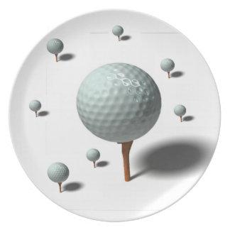 Prato De Festa amantes do golfe
