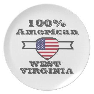 Prato De Festa Americano de 100%, West Virginia