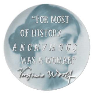 Prato De Festa Anónimo era um azul das citações de Virgínia Woolf