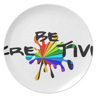 Prato De Festa Arte colorida criativa