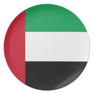 Prato De Festa Bandeira de United Arab Emirates