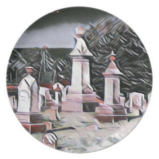 Prato De Festa Fontes do partido do RASGO do cemitério do Dia das