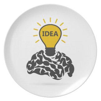 Prato De Festa Ideia de um cérebro