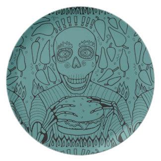 Prato De Festa Linha design do hamburguer da arte