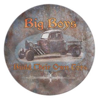 Prato De Festa Metal oxidado do caminhão de Ratrod