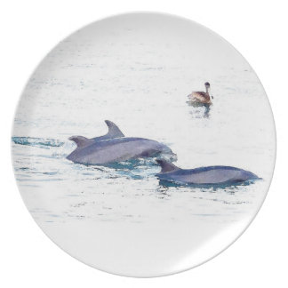 Prato De Festa Oceano dos animais dos animais selvagens dos