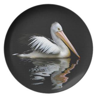 Prato De Festa Pelicano branco