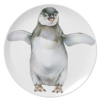 Prato De Festa Pintinho africano do pinguim