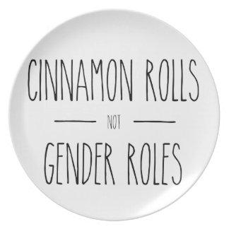 Prato De Festa Placa da feminista dos papéis do género de Rolls