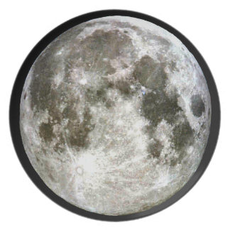 Prato De Festa Placa da Lua cheia