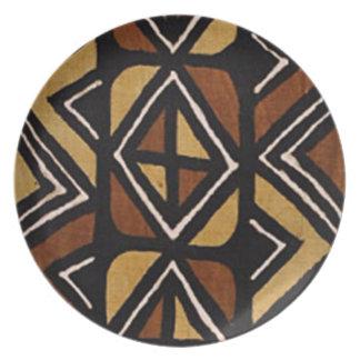 Prato De Festa Teste padrão #2 de pano da lama do Kenyan