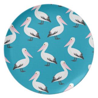 Prato De Festa Teste padrão do pelicano