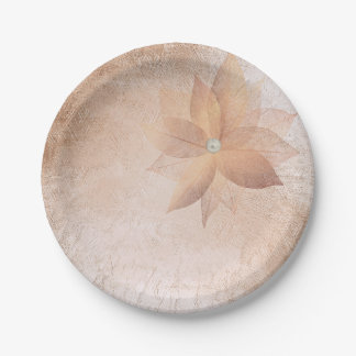Prato De Papel A pérola Pastel do ouro cor-de-rosa do cobre do