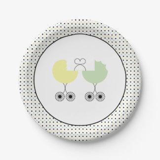 Prato De Papel Ame placas comum do chá de fraldas dos carrinhos,