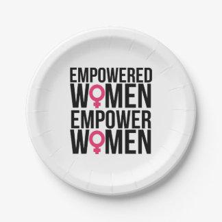 Prato De Papel Autorize mulheres