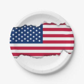 Prato De Papel Bandeira americana clássica