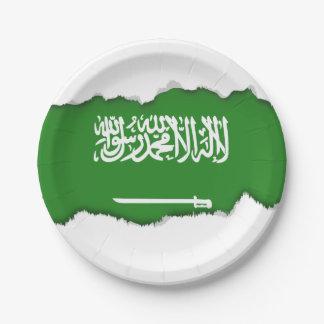 Prato De Papel Bandeira de Arábia Saudita