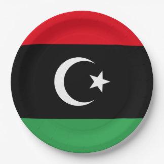 Prato De Papel Bandeira de Líbia