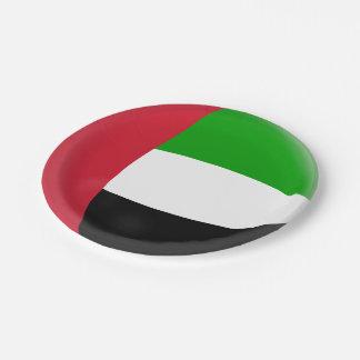 Prato De Papel Bandeira de United Arab Emirates UAE