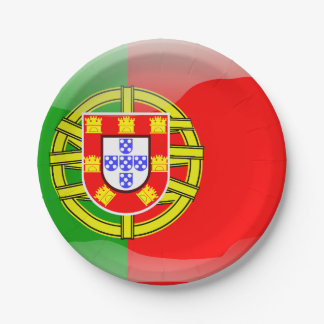 Prato De Papel Bandeira lustrosa de Portugal