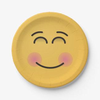 Prato De Papel Cara de sorriso com olhos de sorriso