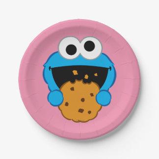 Prato De Papel Cara do biscoito